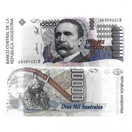"ND (1989-91) * Billete Argentina 10.000 Australes ""Carlos Pellegrini"" (p334a) SC"