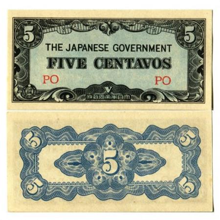 "ND (1942) * Billete Filipinas 5 Centavos ""Ocupación Japonesa – WWII"" (p103a) SC"