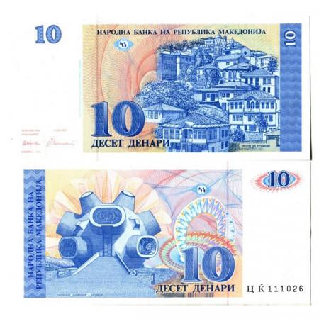 """1993 * Billete Macedonia 10 Denari """"Makedonium"""" (p9a) EBC+"""