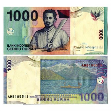 """2013 * Billete Indonesia 1000 Rupiah """"Captain Pattimura"""" (p141m) SC"""