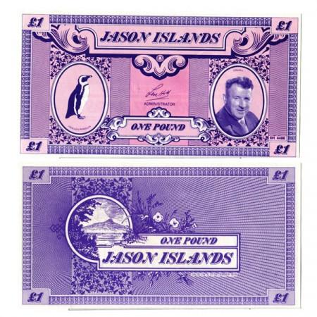 """1979 * Billete Islas Jason 1 Pound """"Len Hill"""" (px) SC"""