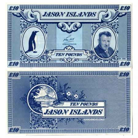 """1979 * Billete Islas Jason 10 Pounds """"Len Hill"""" (px) SC"""