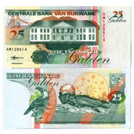 "1998 * Billete Surinam 25 Gulden ""Central Bank - Paramaribo"" (p138b) SC"