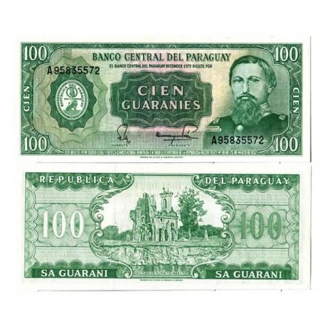 "L. 1952 (1982) * Billete Paraguay 100 Guaranies""Guaranies General José E. Díaz"" (p205) SC"