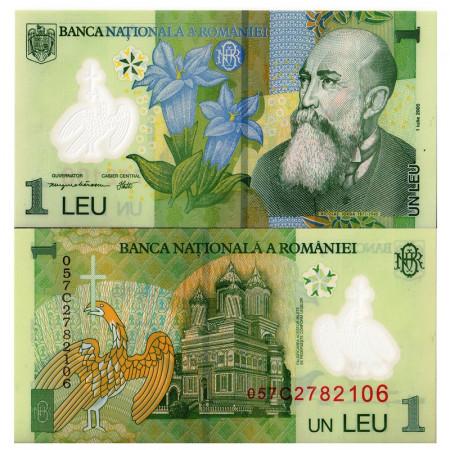 "2005 * Billete Polímero Rumania 1 Leu ""N Iorga"" (p117a) SC"