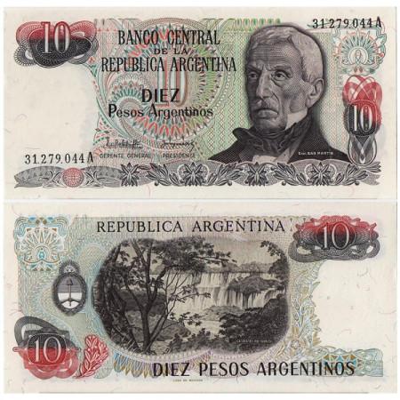 "ND (1983-84) * Billete Argentina 10 Pesos Argentinos ""J de San Martin"" (p313a) SC"