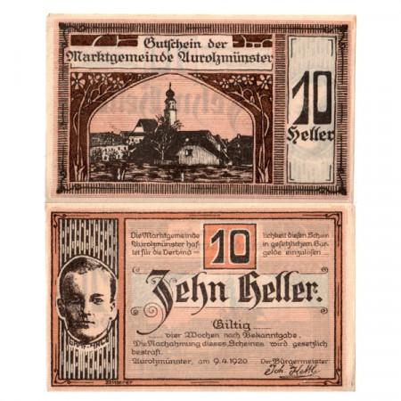 """1920 * Notgeld Austria 10 Heller """"Alta Austria - Aurolzmünster"""" (FS 69)"""
