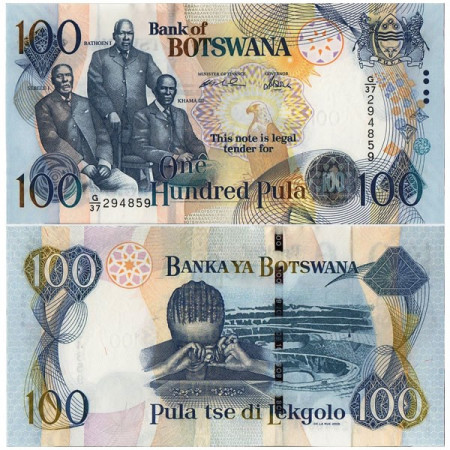 "2005 * Billete Botsuana 100 Pula ""Three Chiefs"" (p29b) SC"