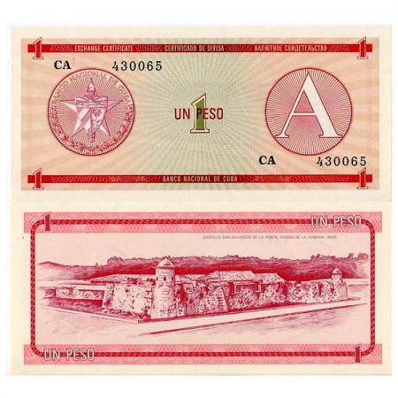 "ND (1985) * Billete - Certificado de Compra Cuba 1 Peso ""Serie A"" (pFX1) SC"