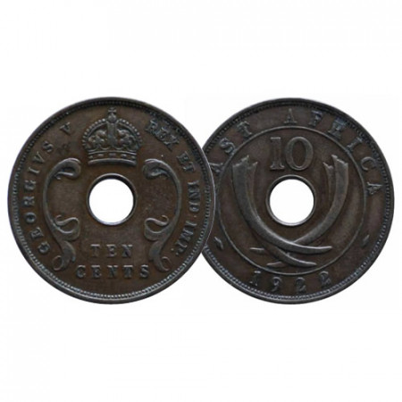 "1922 * 10 Cents África Oriental Británica - British East Africa ""Jorge V"" (KM 19) MBC+"