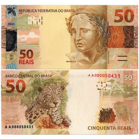 "2010 * Billete Brasil 50 Reais ""Jaguar"" (p255) SC"