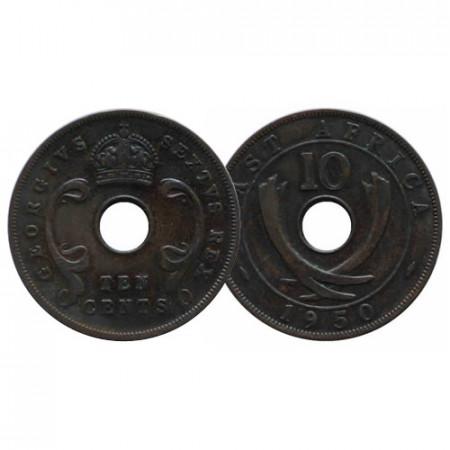 "1950 * 10 Cents África Oriental Británica - British East Africa ""Jorge VI"" (KM 34) MBC"