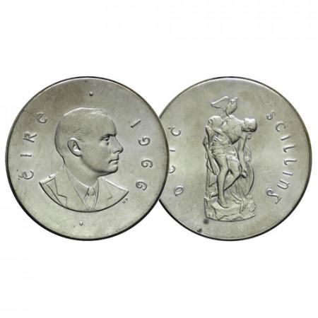 """1966 * 10 Shilling Plata Irlanda """"Centenario del Alzamiento de Pascua"""" (KM 18) FDC"""