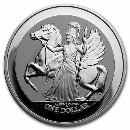 "2016 * 1 Dollar Plata 1 OZ Islas Vírgenes Británicas ""Pegasus"" Prooflike"