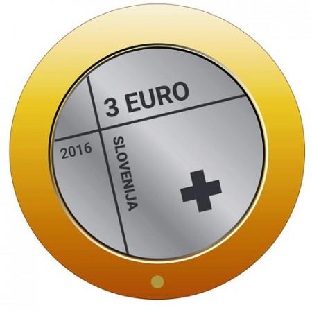 "2016 * 3 Euro ESLOVENIA ""Cruz Roja en Eslovenia"" UNC"