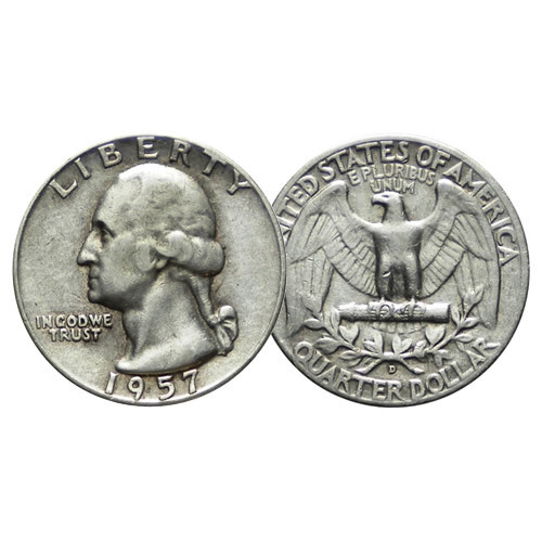 1957 D Cuarto De Dólar 25 Cents