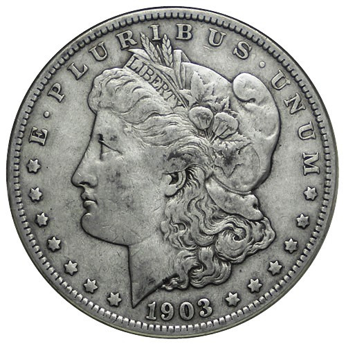 1903 S 1 Dólar Plata Estados Unidos